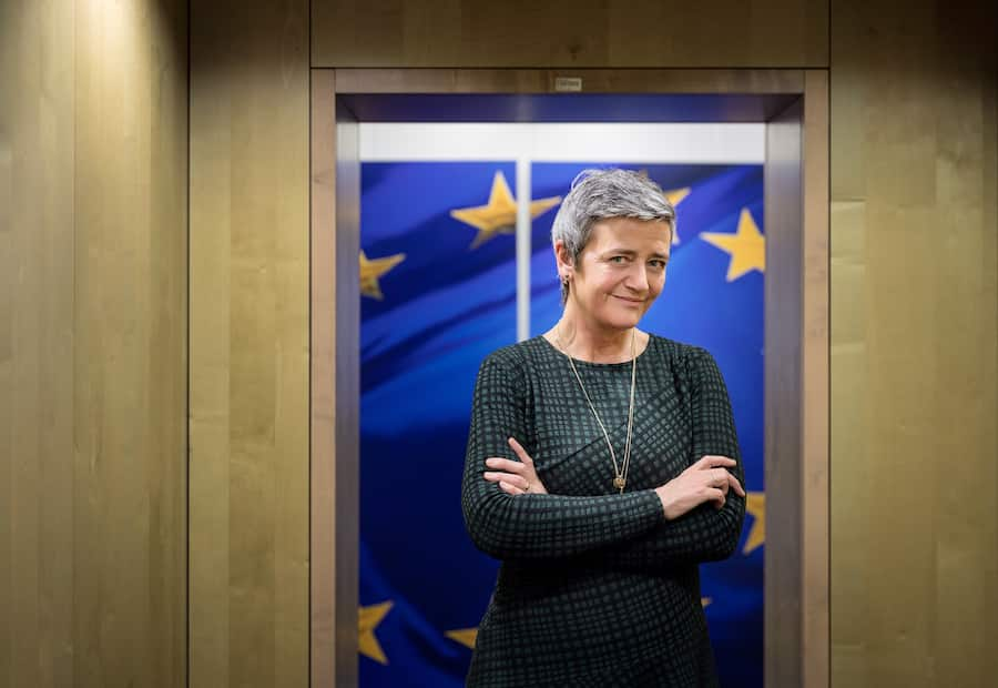 Margrethe Vestager, head of the European Commission's antitrust division, in Brussels, on Nov. 11, 2019. Vestager, who won praise for her oversight of the tech industry is now, with more authority from the European Union, envisioning a more aggressive agenda. (Ans Brys/The New York Times)