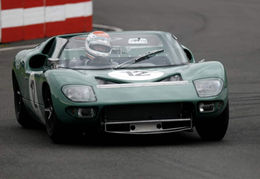 Philip Walker driving his VERY RARE FORD GT40 ROADSTER in its maiden race during the 2007 Goodwood Revival Meeting at Goodwood Motor Racing Track in Sussex, England, UK. (Photo by Leo Mason/Popperfoto via Getty Images)