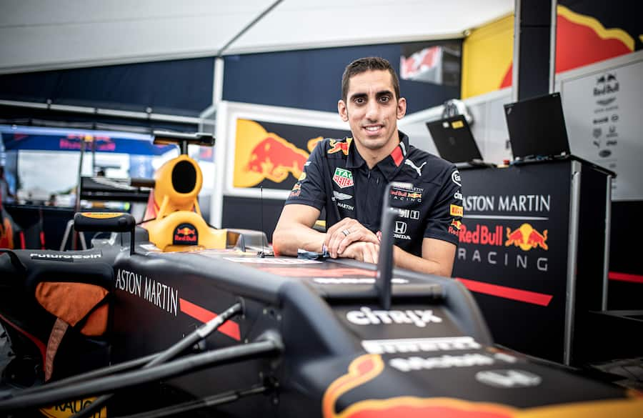 Sebastien Buemi of Switzerland poses for a portrait during the Red Bull Race Day in Grenchen, Switzerland on August 10, 2019. // Romina Amato/Red Bull Content Pool // SI201908100509 // Usage for editorial use only //