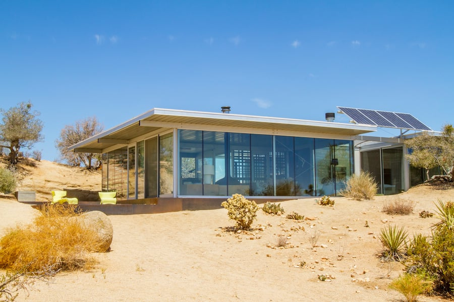 Off the Grid House in Pioneertown, California.